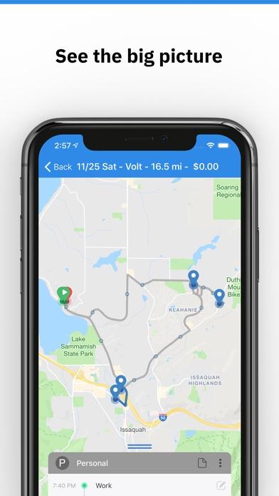 triplog mileage gas tracker by bizlog llc 13 app in car
