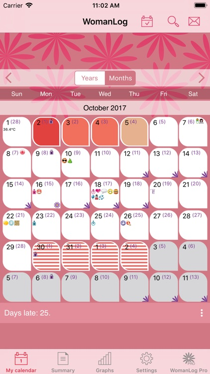 WomanLog Period Calendar