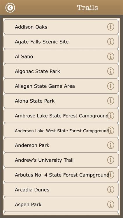 Michigan Camps & Trails,Parks screenshot-3