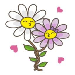 Flowers and Love Emoji Sticker