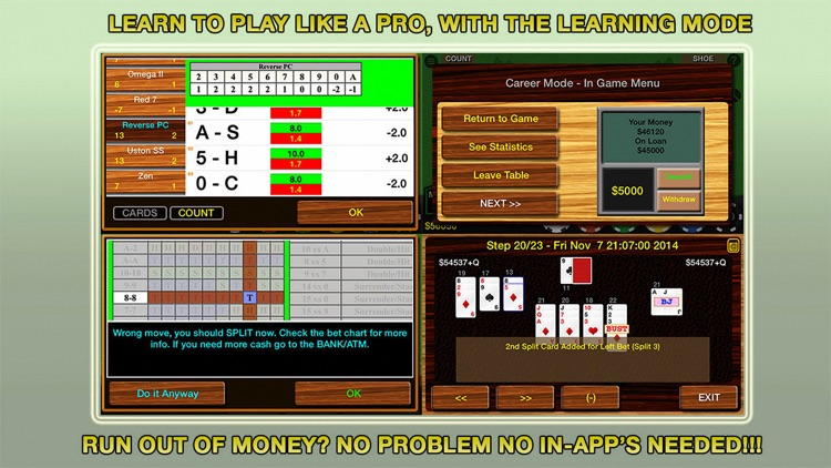 Blackjack 21 Multi-Hand (Pro) screenshot-3