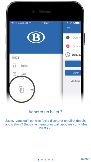Sncb dans l app store for Application iphone pour ouvrir porte garage