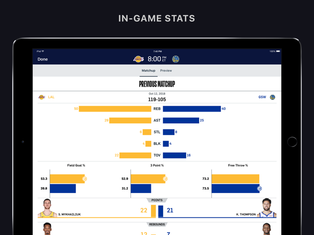 NBA: Official App Screenshot