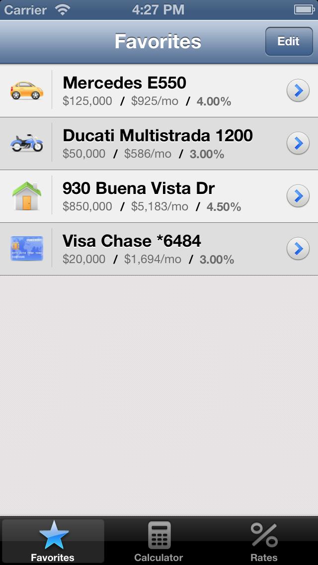 Калькулятор ипотеки для iPhoneСкриншоты 4