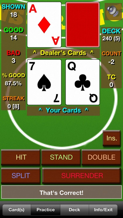 BlackJack Teacher Pro (21 Pro)