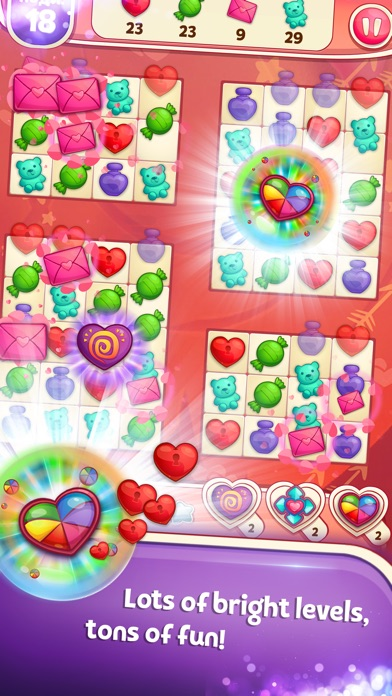 Sweet Hearts Match 3 screenshot 3