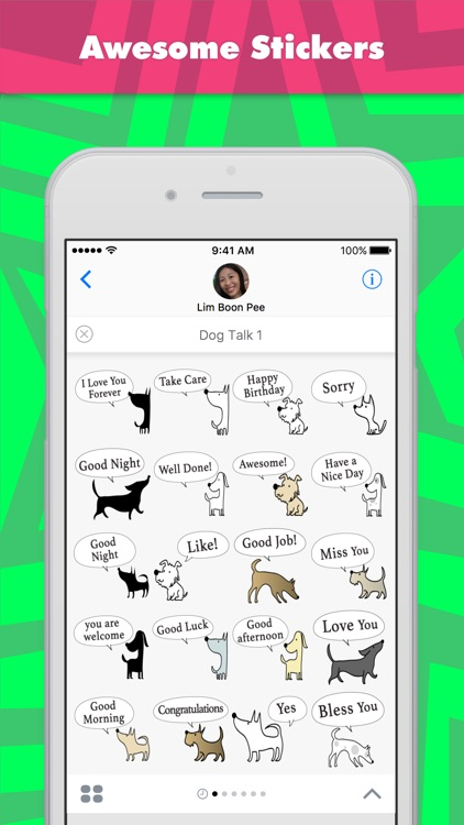 dog talk 1 stickers by wenpei