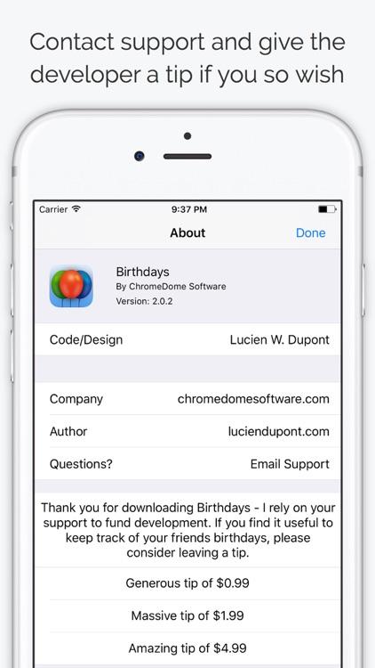 Birthdays - Contacts Birthdays screenshot-3