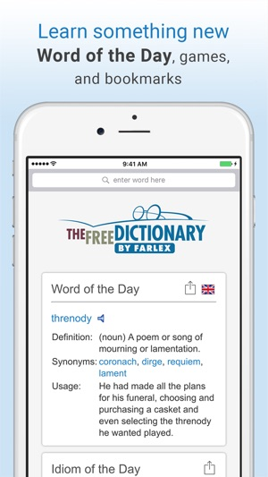 ‎Dictionary and Thesaurus Pro