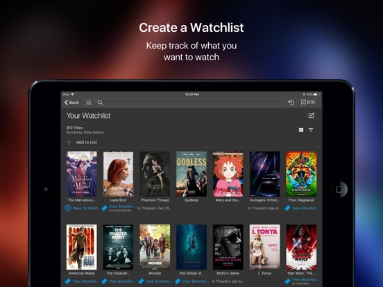 IMDb Movies & TV iPad