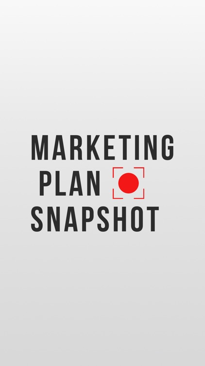 Marketing Plan Snapshot screenshot-0