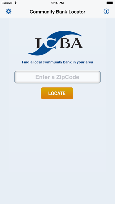 ICBA Community Bank Locator screenshot one