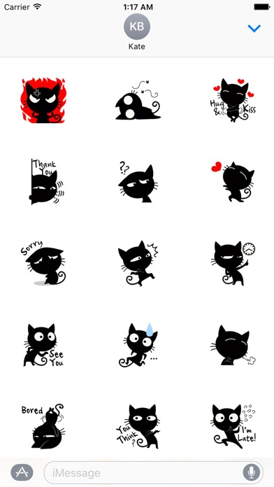 Funny Black Cat Stickers screenshot two