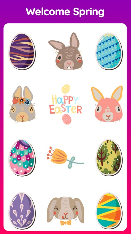 Animated Happy Easter Stickers screenshot-3