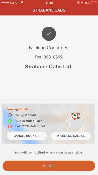 Screenshot of Strabane Cabs App