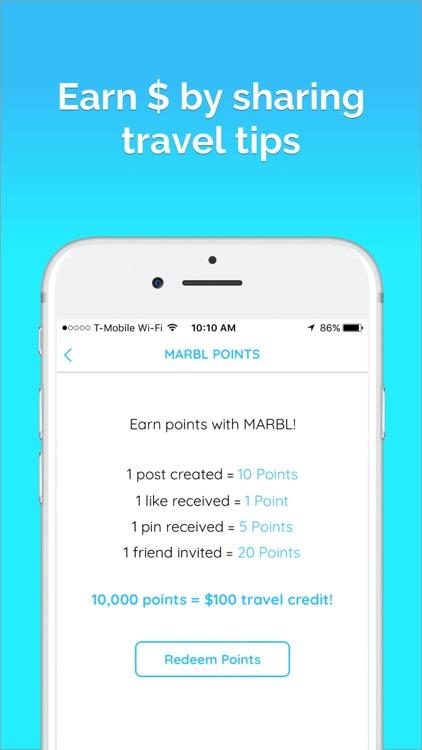 MARBL- Millennial Trip Planner screenshot-3