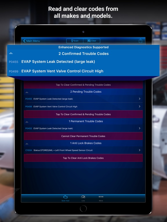 BlueDriver OBD2 Scan Tool Screenshots