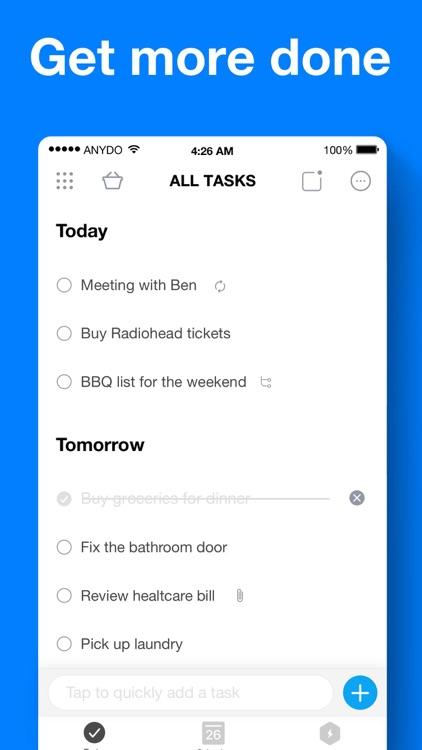 Any.do: To-do list & Calendar screenshot-0