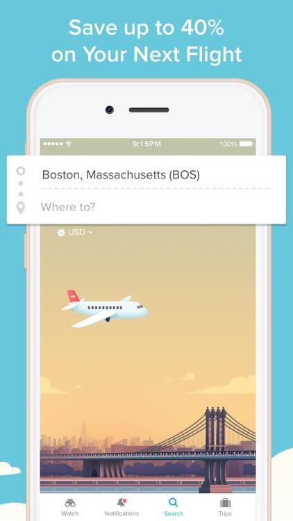 Hopper - Watch & Book Flights screenshot-0