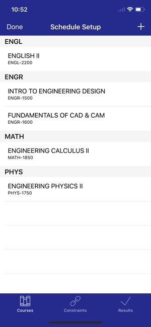 college schedule builder