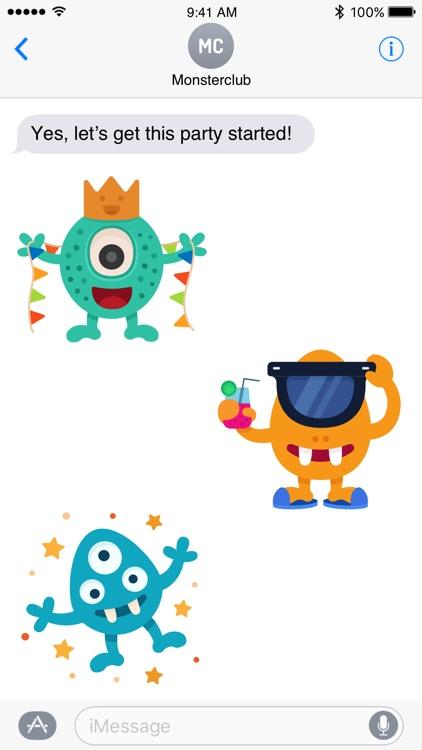 Happy Monster stickers screenshot-4