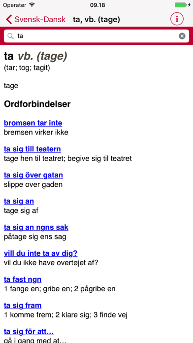 Swedish Danish Dictionary - Gyldendalのおすすめ画像4