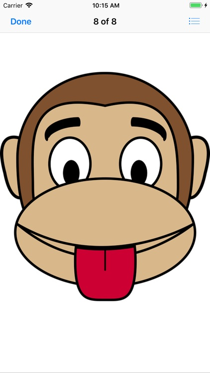 Monkey Face Emoji Stickers screenshot-8