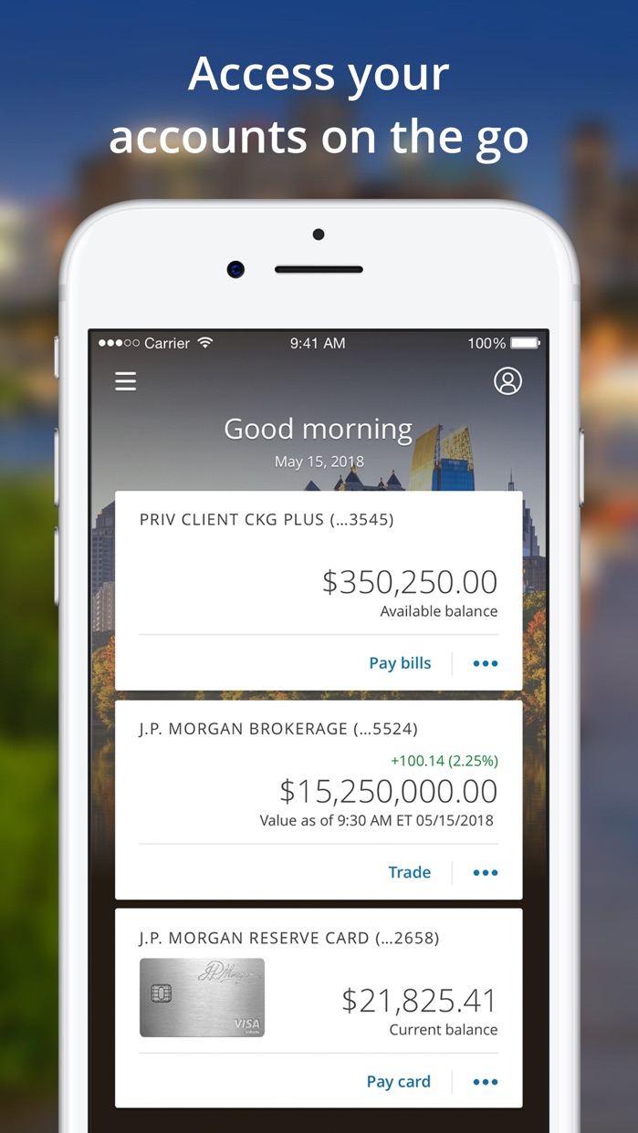 J.P. Morgan Mobile® Screenshot