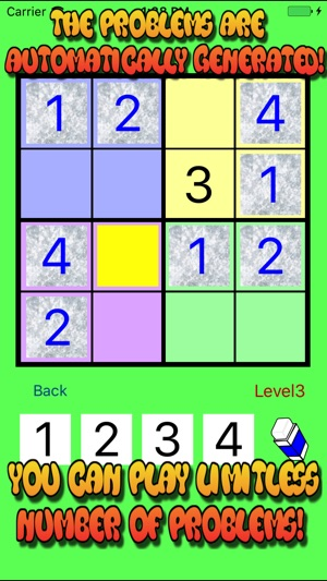 4x4 To 6x6 Easy Sudoku Puzzle On The App Store
