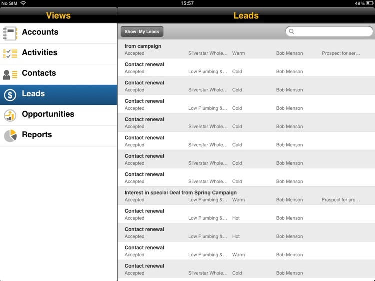 SAP Business ByDesign for iPad