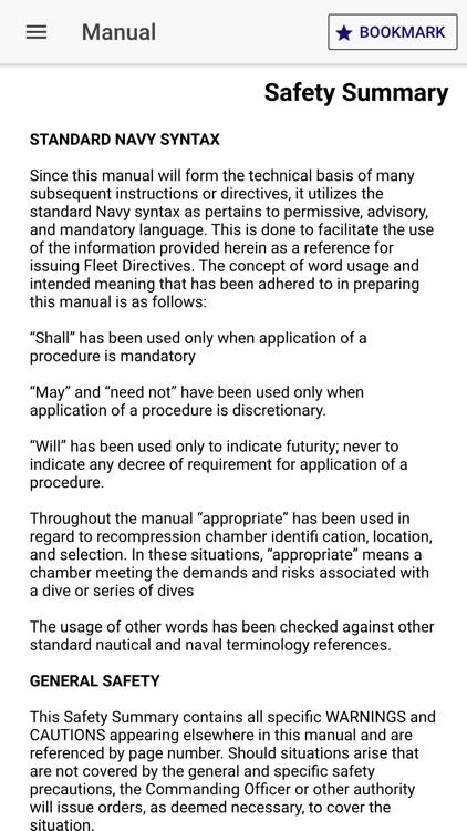 US Navy Dive Manual/Calculator screenshot-4