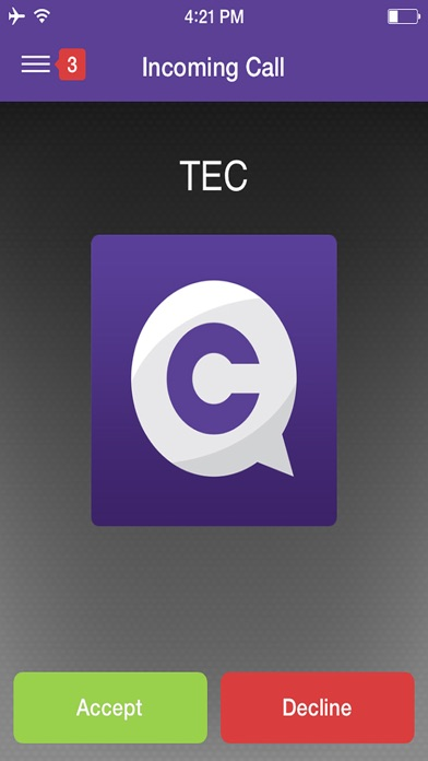 Communicator by TEC Flex Screenshot on iOS