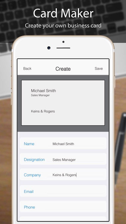 Business card scanner reader by odyssey apps ltd business card scanner reader screenshot 3 reheart Image collections