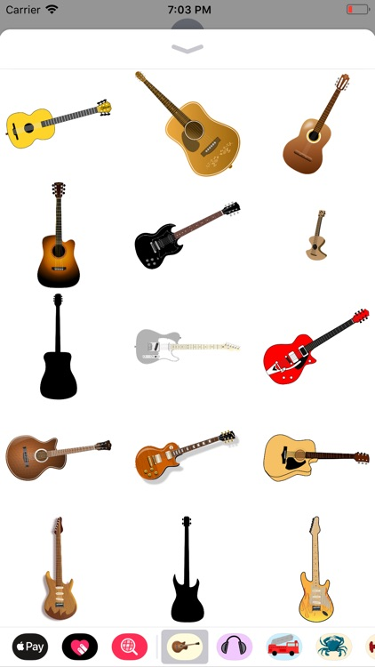 Groovy Guitar Stickers screenshot-4