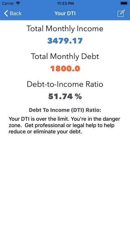 Debt To Income Calculator screenshot-3