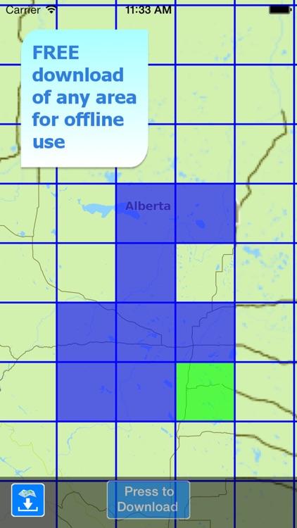 Aqua Map Alberta Lakes GPS HD screenshot-5