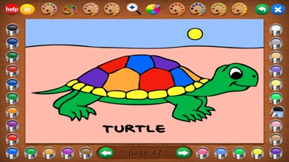 Coloring Book 3: Animals screenshot two