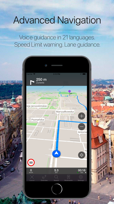 Poland Offline Navigation Screenshot