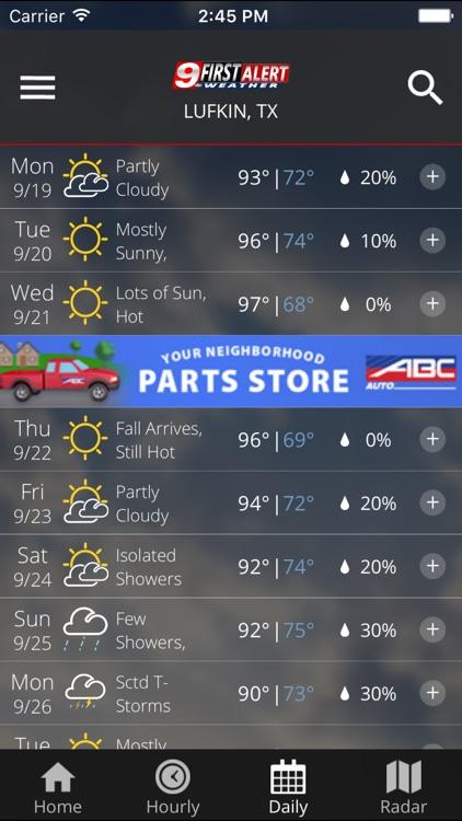KTRE 9 First Alert Weather screenshot-3