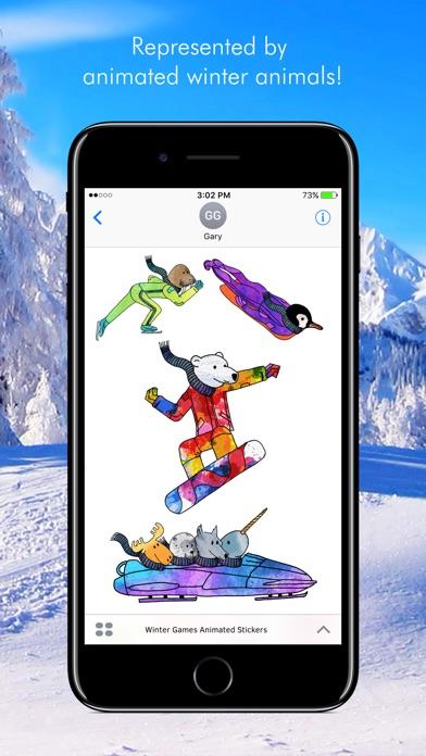 Winter Games Animated Stickers screenshot 2