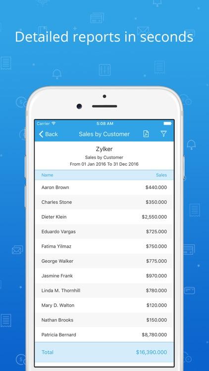Invoice & Time Tracking - Zoho screenshot-4