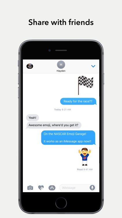 NASCAR Emoji Garage screenshot-3
