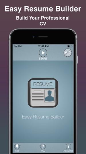 easy resume builder cv maker on the app store