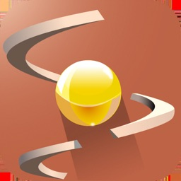 Spiral Tower: Tap to jump ball