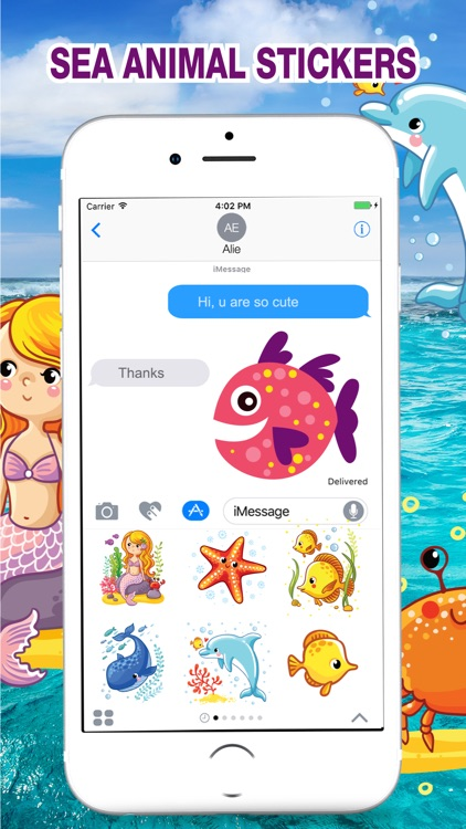 Sea Animal Stickers Pack screenshot-4