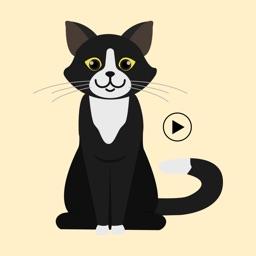 Animated Black Catmoji GIF