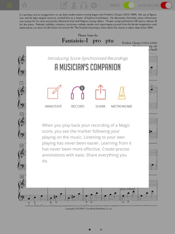 Interactive Piano Sheet Music