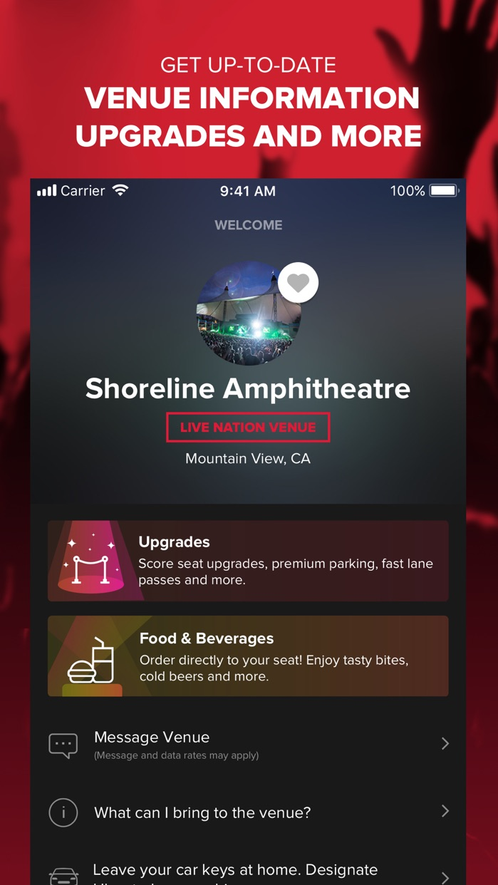 Live Nation – For Concert Fans Screenshot