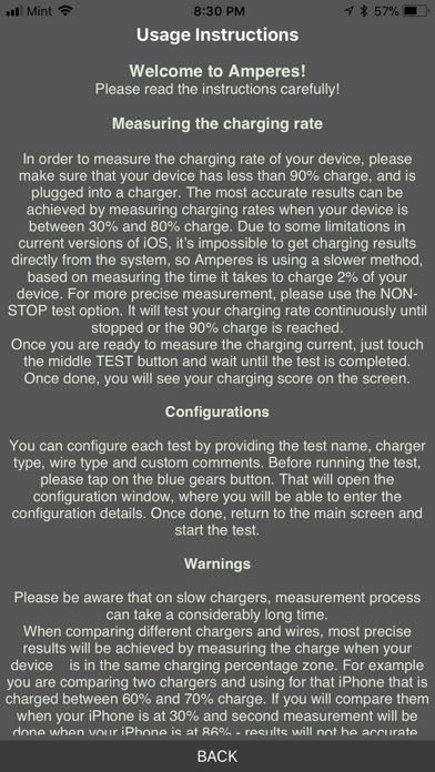 Amperes - battery charge info Screenshot 2