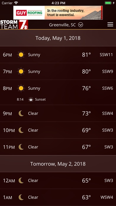 WSPA Weather for Windows